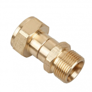 Swivel Joint Male M22/15mm to Female M22 for Pressure Washer Gun