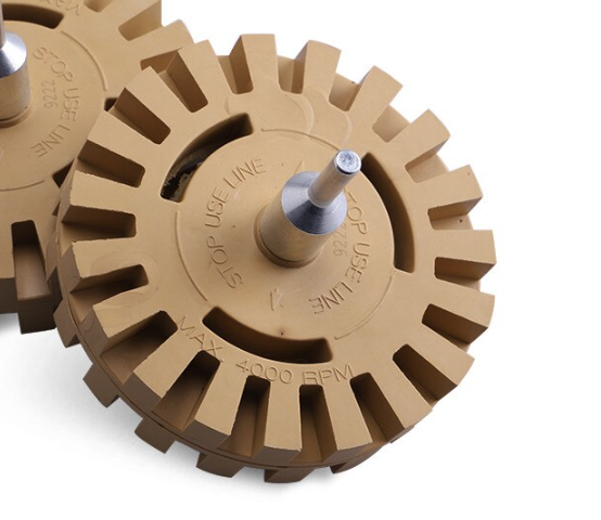 Rubber Eraser Wheel with Drill Adapter Kit