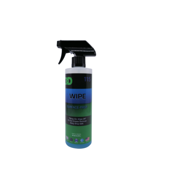 3D Wipe Surface Prep - Surface prep Oil and Grease remover - Body Shop Safe - Easy spray on, wipe off formula - recommended for use before applying ceramic coating