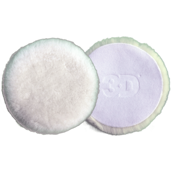 """3D 3"""" White Wool Pad - 2 Pack"""