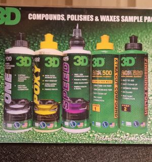 3D Compound, Polish and Wax Sample Pack