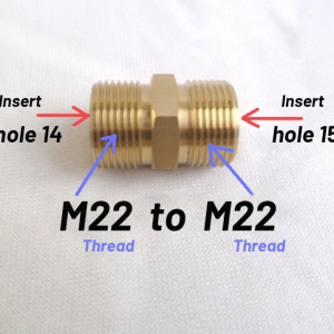 Male M22 14mm to Male M22 15mm